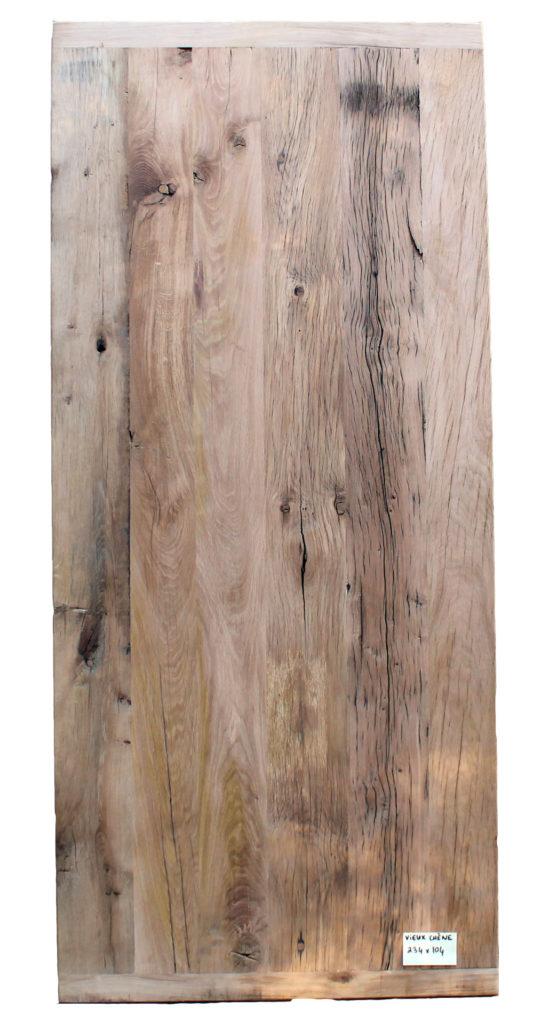 Plateau de table en vieux chêne 234 x 104 Image
