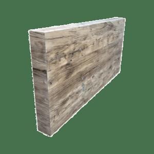 tête de lit vieux chêne-plancher de wagon Image