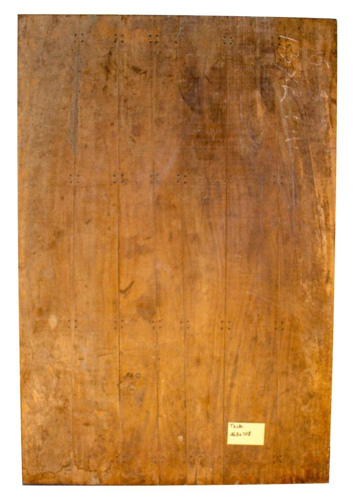 Plateau de table en vieux teck 163 x 108 Image