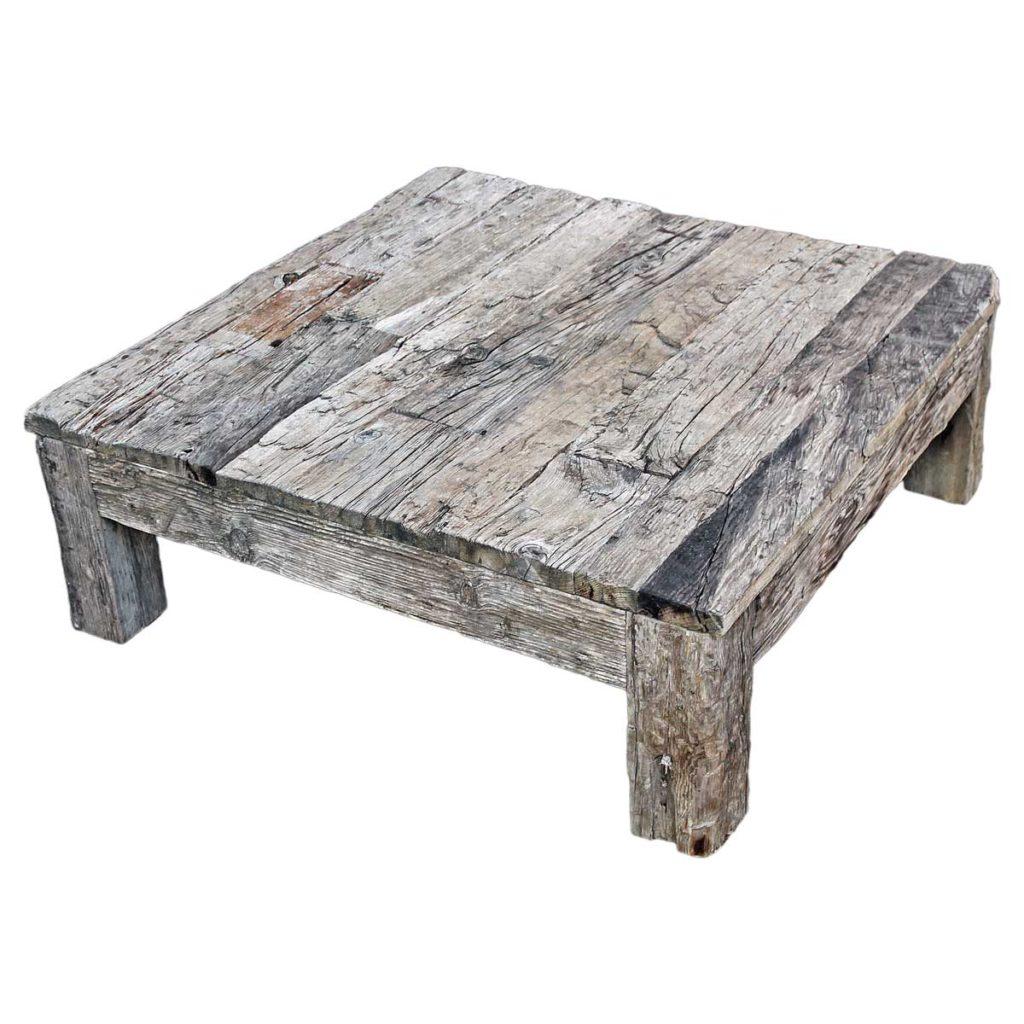 Table en bois brut 100 x 100 Image