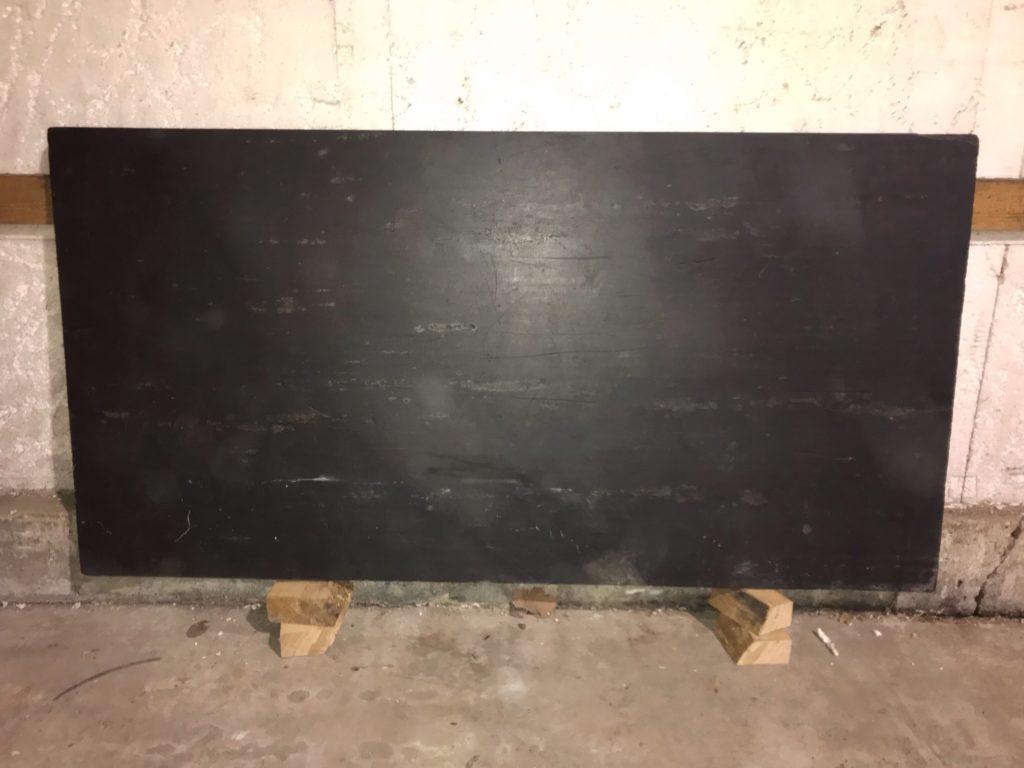 plateau de table en ardoise Image