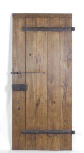 Porte en vieux chêne - plancher de wagon Image