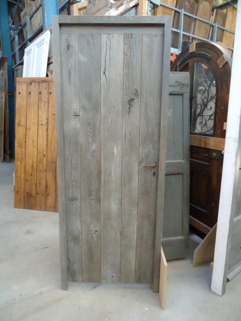 Porte de communication en vieux chêne grisé Image