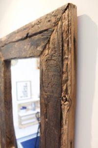 Miroir bois brut Image