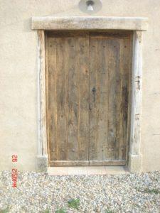 porte rustique vieux bois brut Image