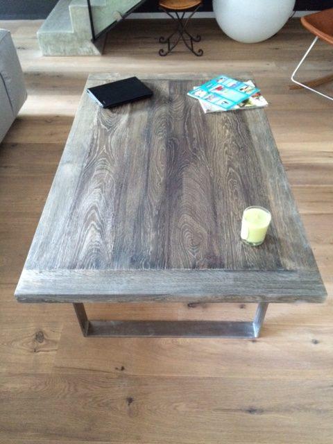 Table salon vieux chêne grisé Image